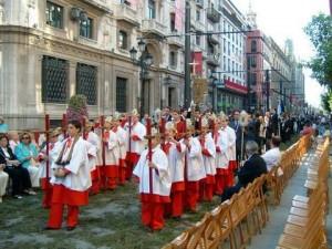 El cortejo de la procesión del Corpus Christi