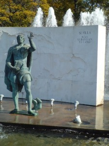 El monumento a Juan Sebastián Elcano