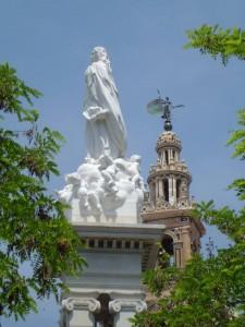 El monumento a la Inmaculada Concepción