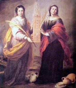 La leyenda de las Santas sevillanas Justa y Rufina