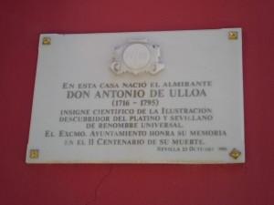 La casa natal del Almirante Antonio de Ulloa