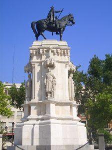 El monumento al Rey San Fernando