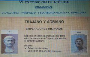 Exposición filatélica sobre Trajano y Adriano