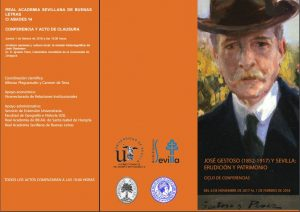 """Conferencia """"Cultura nacional y cultura local: la mirada historiográfica de José Gestoso"""" y acto de clausura"""